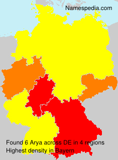 Surname Arya in Germany