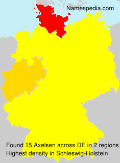 Familiennamen Axelsen - Germany