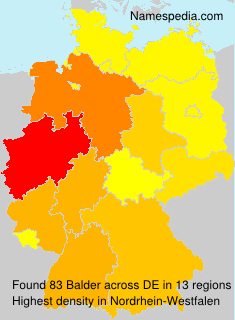 Surname Balder in Germany