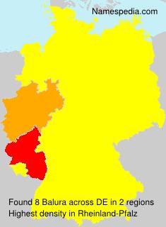 Familiennamen Balura - Germany