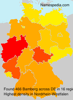 Surname Bamberg in Germany