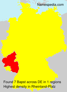 Surname Bapst in Germany