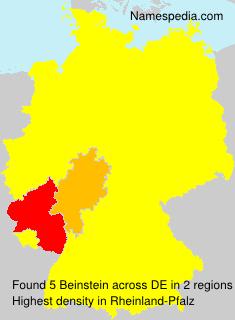 Surname Beinstein in Germany