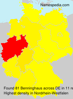 Familiennamen Benninghaus - Germany