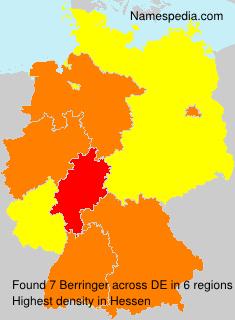 Surname Berringer in Germany