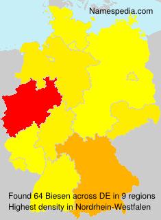 Familiennamen Biesen - Germany