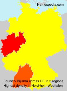Surname Bijlsma in Germany