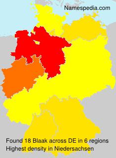 Surname Blaak in Germany