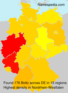 Surname Boltz in Germany