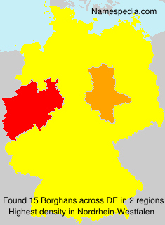 Surname Borghans in Germany