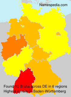 Surname Braha in Germany