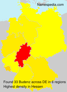 Surname Budenz in Germany