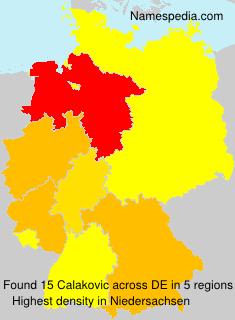 Surname Calakovic in Germany