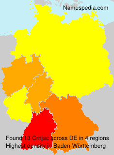 Surname Crnjac in Germany