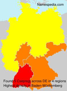 Familiennamen Csepregi - Germany
