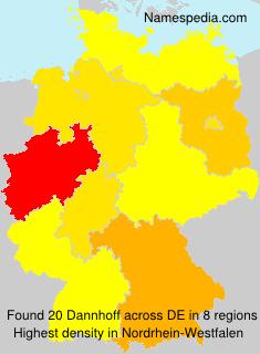 Surname Dannhoff in Germany