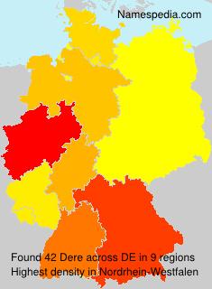Familiennamen Dere - Germany