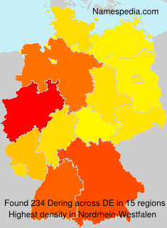 Surname Dering in Germany