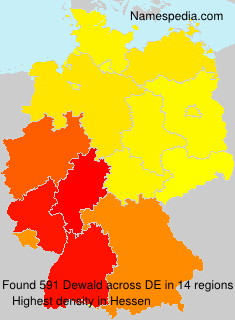 Surname Dewald in Germany