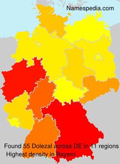 Surname Dolezal in Germany