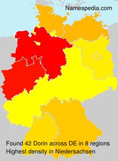 Surname Dorin in Germany