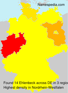 Surname Ehlenbeck in Germany