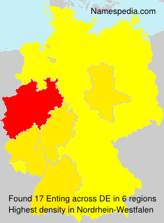 Surname Enting in Germany