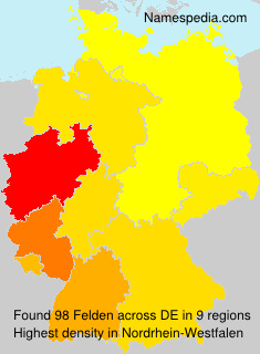 Surname Felden in Germany