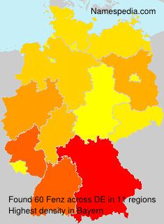 Familiennamen Fenz - Germany