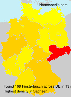 Surname Finsterbusch in Germany