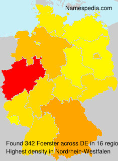 Surname Foerster in Germany