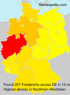 Surname Friederichs in Germany