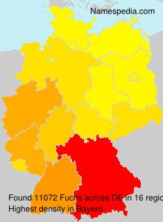 Familiennamen Fuchs - Germany