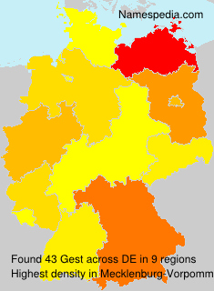 Surname Gest in Germany