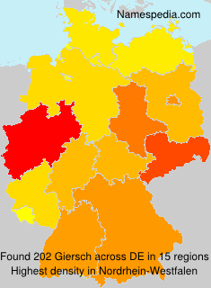 Surname Giersch in Germany