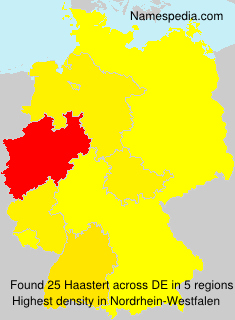 Familiennamen Haastert - Germany
