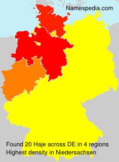 Surname Haje in Germany