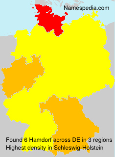 Surname Hamdorf in Germany