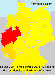 Surname Heimes in Germany