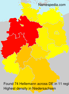 Familiennamen Hellemann - Germany