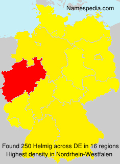 Surname Helmig in Germany