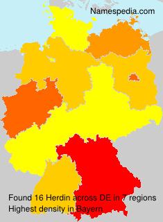 Familiennamen Herdin - Germany