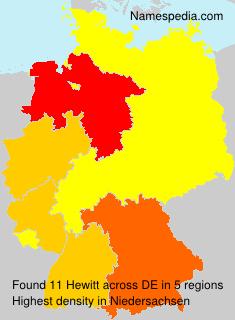 Surname Hewitt in Germany