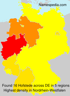 Surname Hofstede in Germany