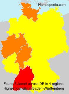Surname Jamet in Germany