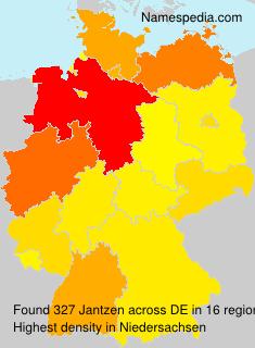 Familiennamen Jantzen - Germany