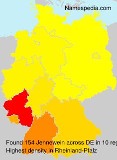 Familiennamen Jennewein - Germany
