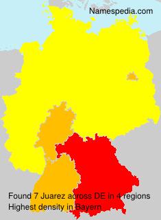 Familiennamen Juarez - Germany