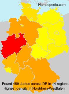 Familiennamen Justus - Germany