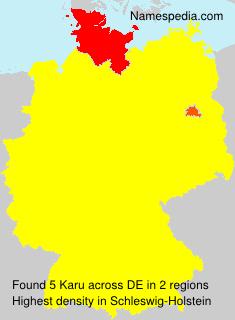 Surname Karu in Germany